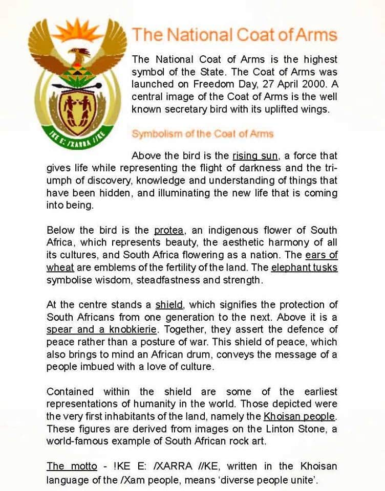 South African coat of arms explained in simple terms