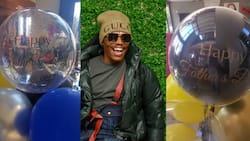 Father's Day: Somizi surprised by amazing gift from his daughter Bahumi Madisakwane
