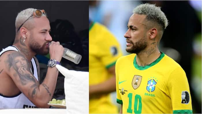 Fans criticise Neymar's physique after he was spotted looking big on holiday