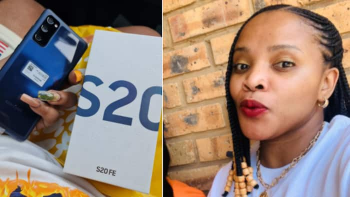 """Eish: Woman gets super fancy phone from """"business partner"""", SA has questions"""