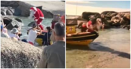 Ho ho no! Santa makes crash landing on beach in hilarious video