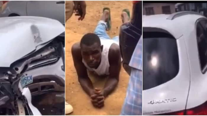 Car wash guy drives client's Benz GLC to buy food, crashes it beyond repair