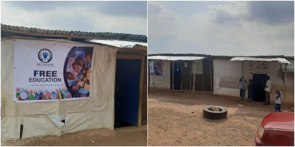 Nigerian Man Builds School Beside His House in Abuja to Educate Less Privileged Kids for Free, Many Hail Him