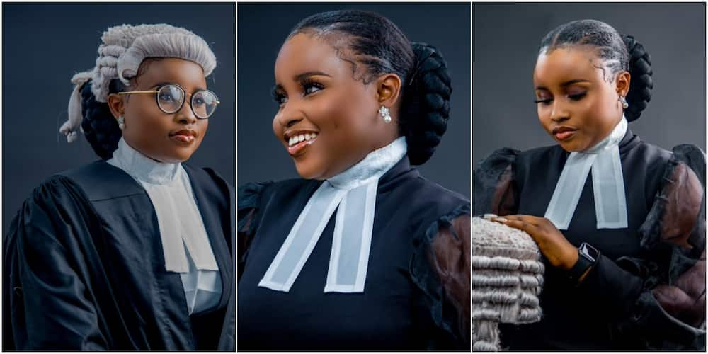 Nigerian lady celebrates being the best law graduate