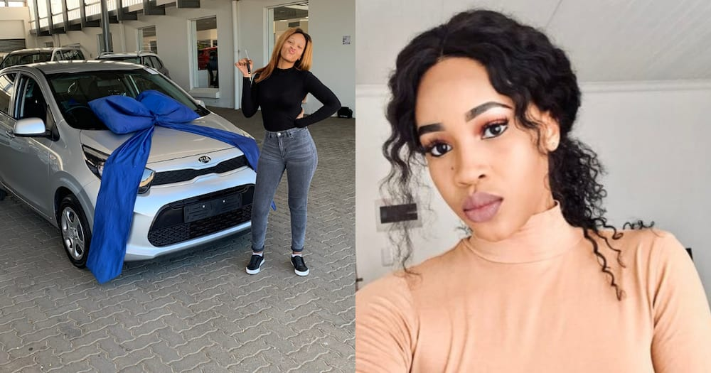 """New baby: Woman flexes new whip """"To me it has been the best year"""""""
