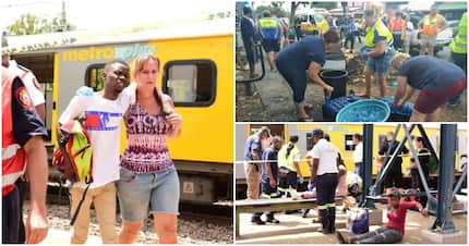 Photos show South Africans helping each other after train collision