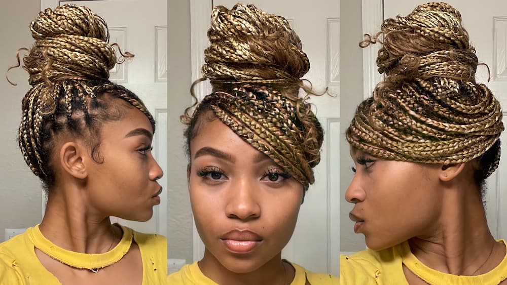 Easy knotless braid bun