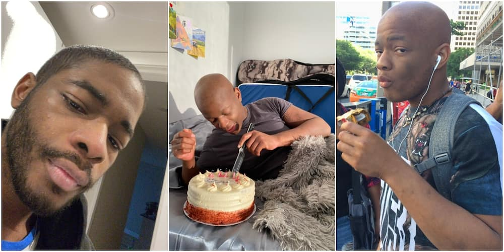 Nigerian Man who beat cancer 3 times before turning 24 celebrates online