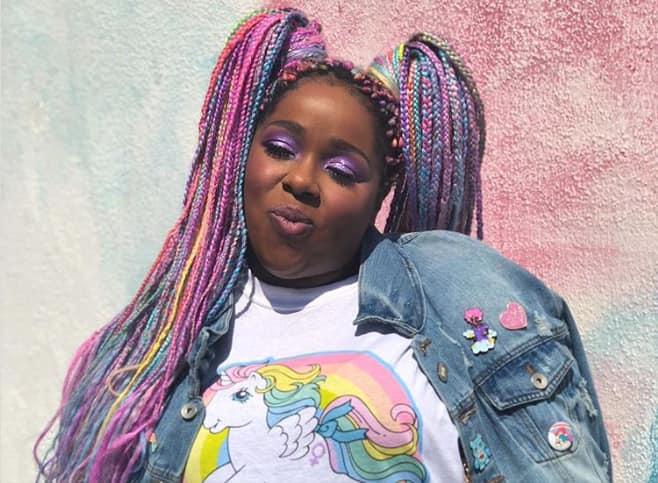 Colored African braids hairstyles 2019