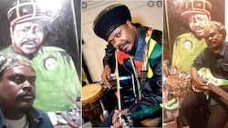 """""""You forgot"""": SA laughs at Rasta's latest painting and birthday message to twin"""