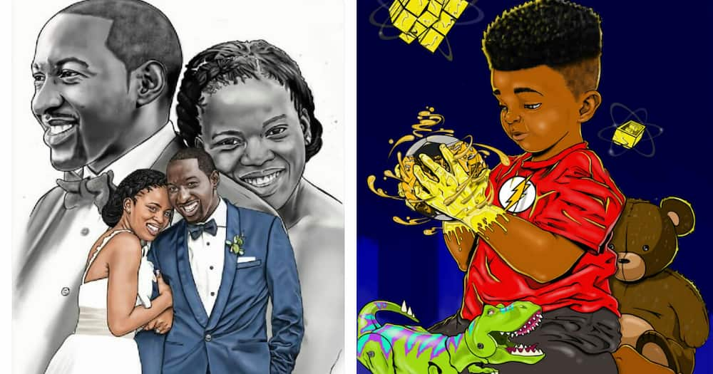 Local man shares pictures of his brother's stunning artwork online