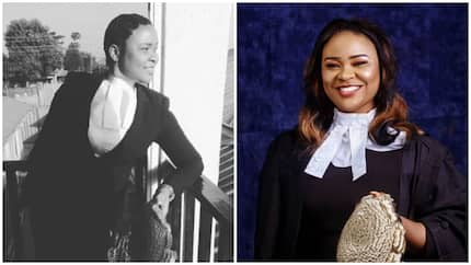 Beautiful lady who lost her right arm at tender age inspires many as she's called to bar