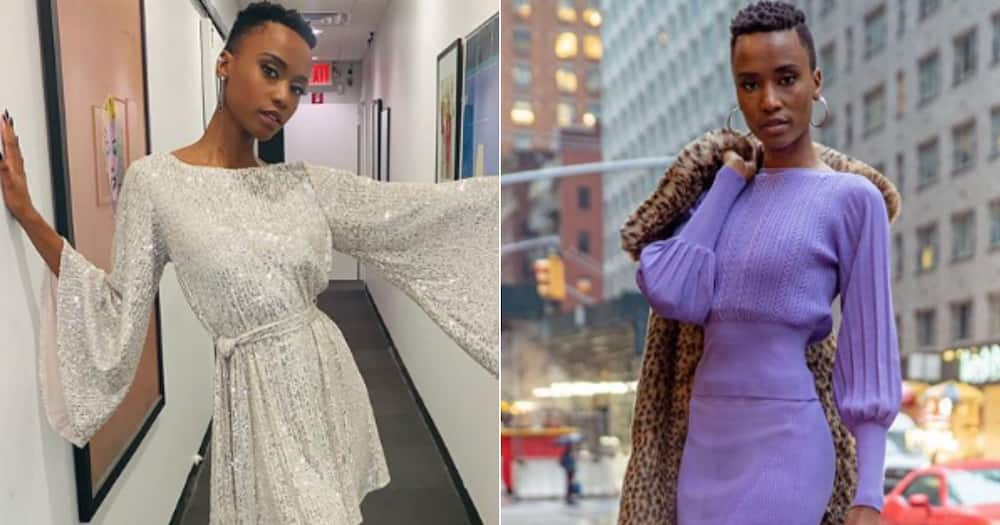 Zozi Tunzi accepts black and white challenge, posts stunning photo