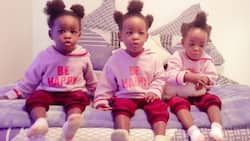 Proud dad shows off his triplets, gets sweet messages from online community