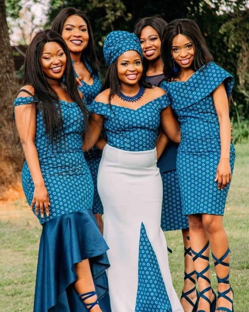 Traditional wedding dresses Sotho