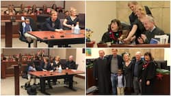 5-Year-Old boy invites all his kindergarten classmates to the courtroom to celebrate his adoption