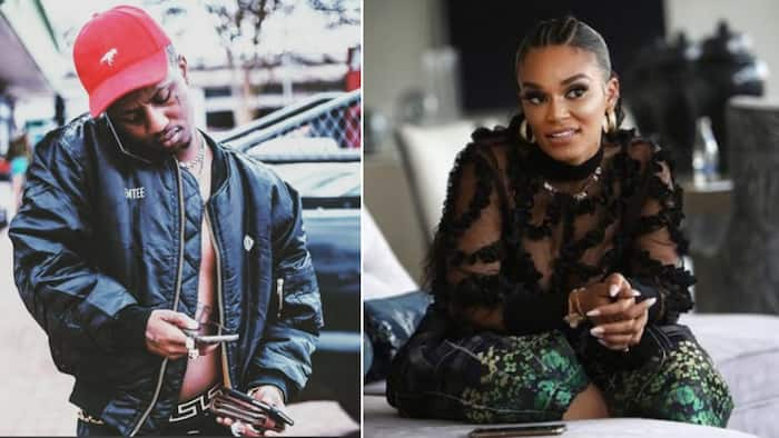Pearl Thusi lets Emtee know she's a huge fan, claims all 4 of his albums are equally dope