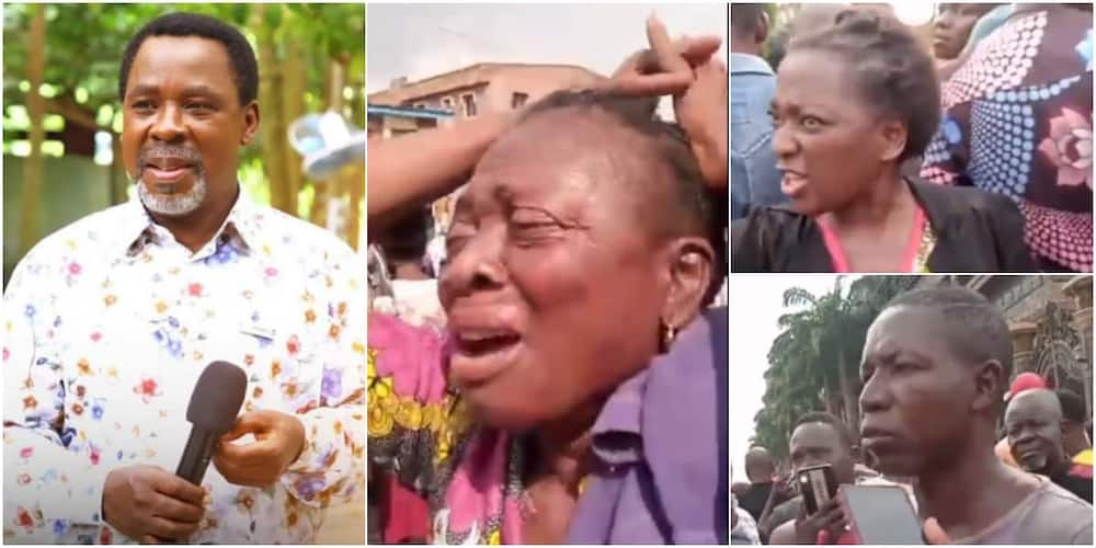 TB Joshua: Photos, video show mourners at Synagogue church paying last respect to late prophet, widows weep