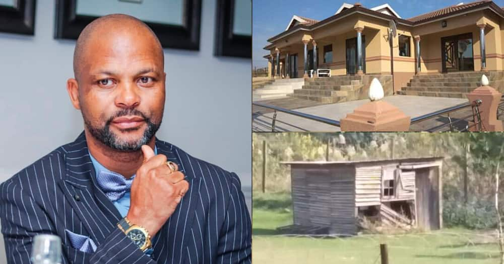Babo Ngcobo gushes about his mansion after spending decades in a shack
