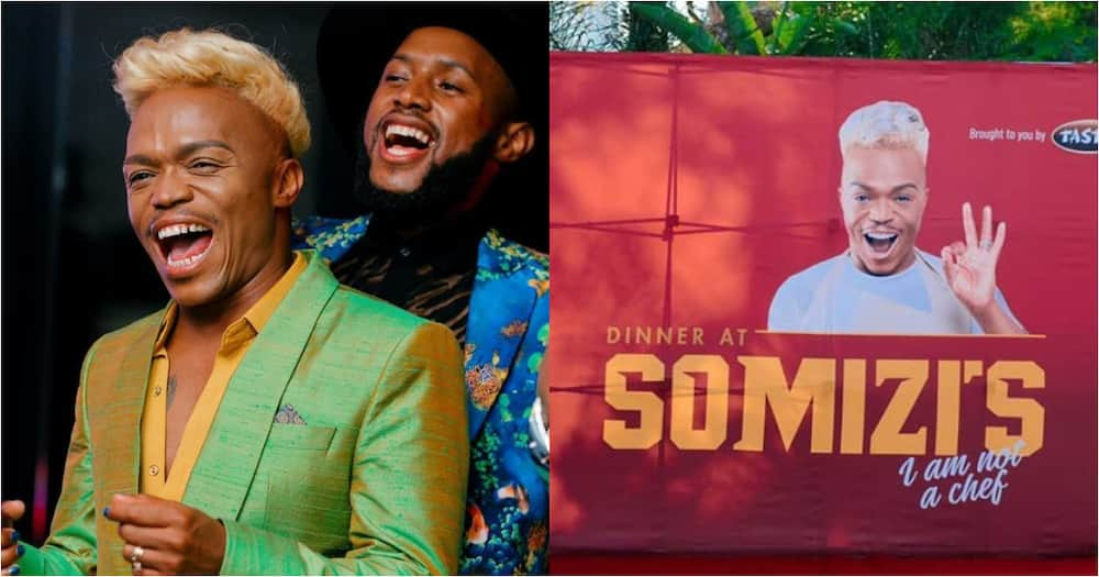 Somizi celebrates at cookbook launch, thanks Mohale for support