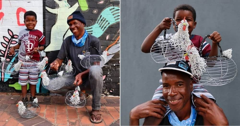 Father and son create beautiful wireworks, sell them to make a living