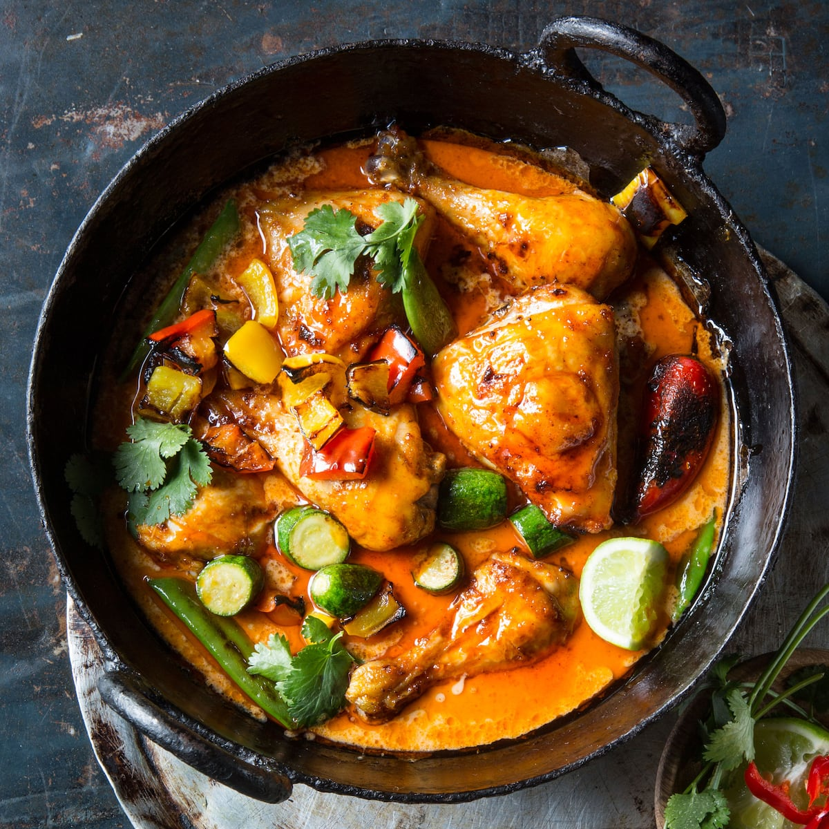 Chicken potjie curry