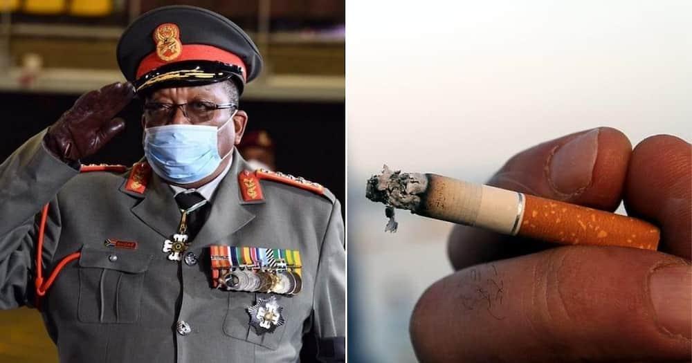 SANDF officials filmed smoking ciggies at Andrew Mlangeni's funeral