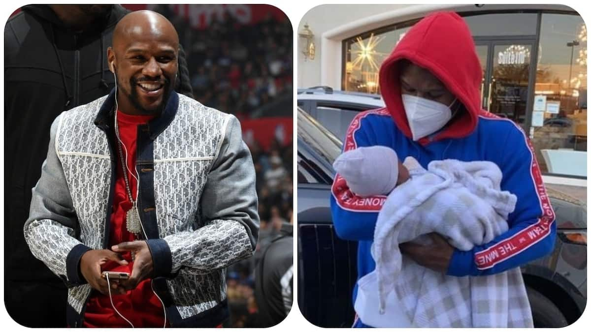 Floyd Mayweather Spotted After Meeting His Grandchild for the 1st Time - Briefly
