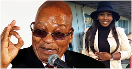 Jacob Zuma's fiancée, 24, joins Twitter and immediately causes a stir