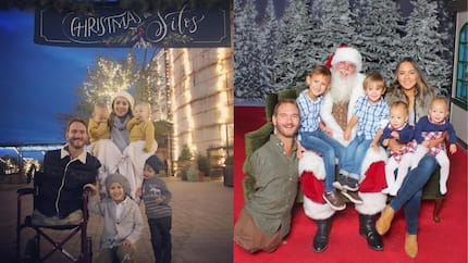 Adorable family photo of limbless pastor Nick Vujicic and his 4 kids as they celebrate Christmas