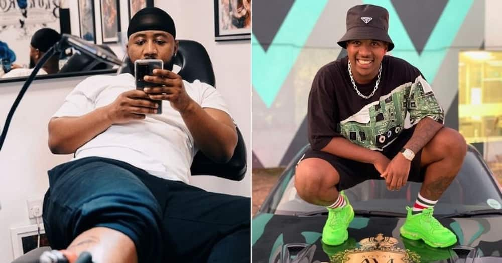 Cassper Nyovest, accused of trying, to get, Andile Mpisane, to promote, his sneakers