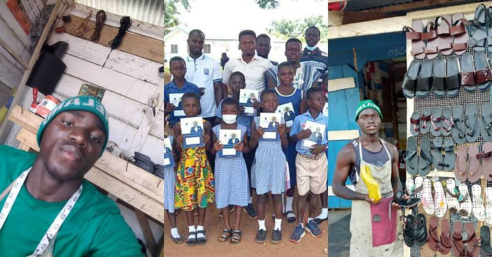 Meet 23-year-old Ghanaian teacher blessing society with passion for footwears