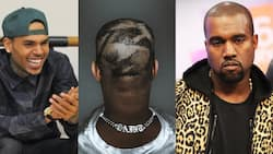 Chris Brown messes with Kanye West after new haircut, says it's punishment