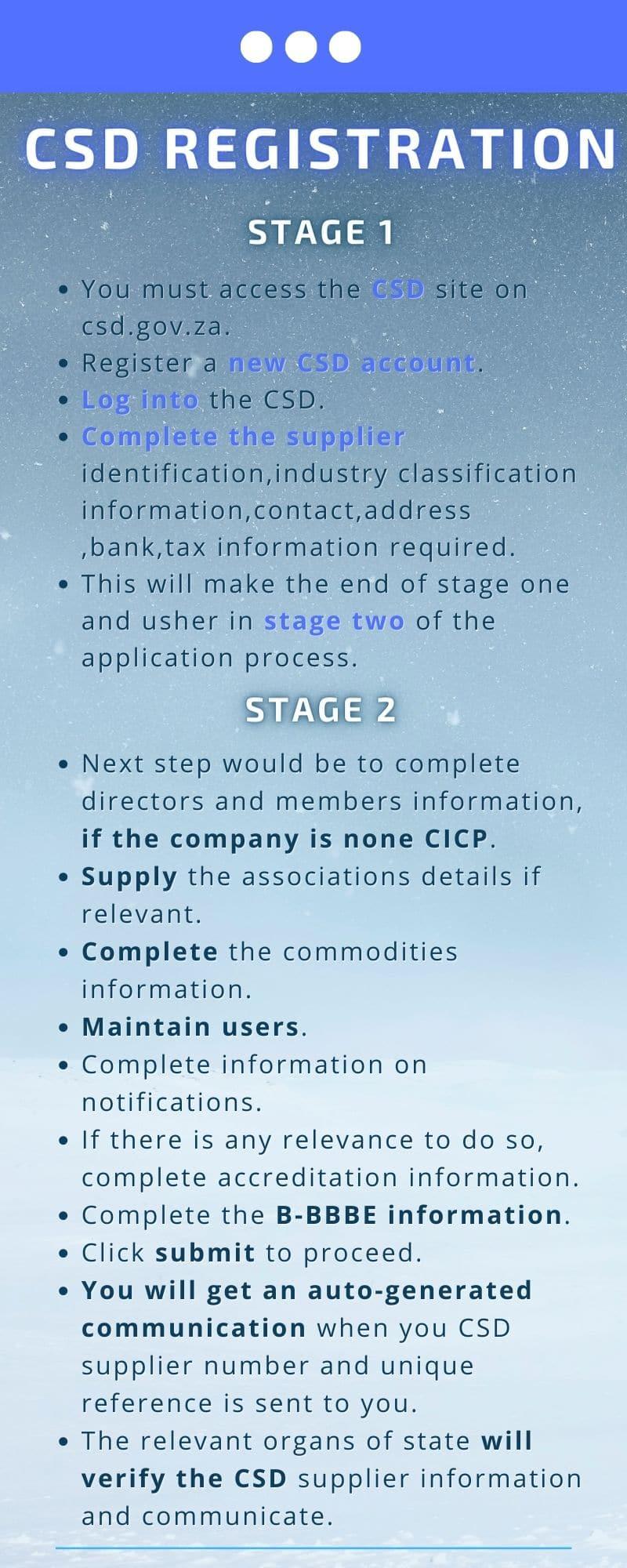 CSD registration