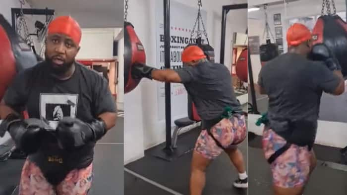 Cassper Nyovest channels his inner 'Rocky' in amazing boxing video