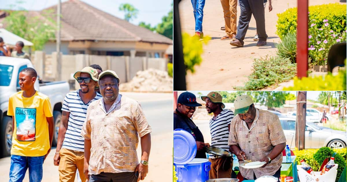 Mboweni Posts Photos Of Famous Shoes While Walking Down Clean Streets