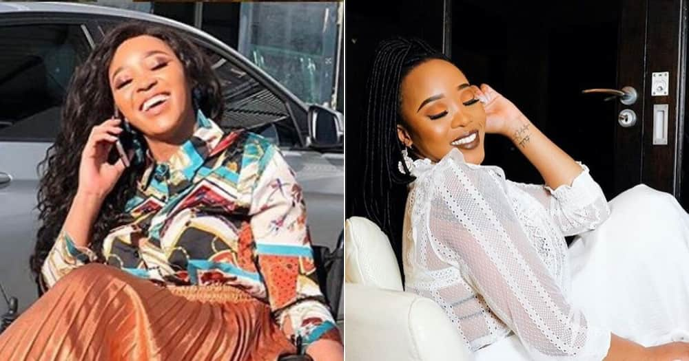 Sbahle Mpisane recently showed off her funny faces in cute online post