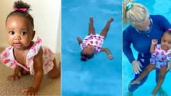 """""""Swims better than me"""": A 10 month old baby girl has serious swimming skills and people take notice"""
