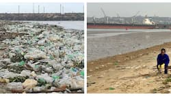 Durban beaches covered in huge amounts of rubibish after rains