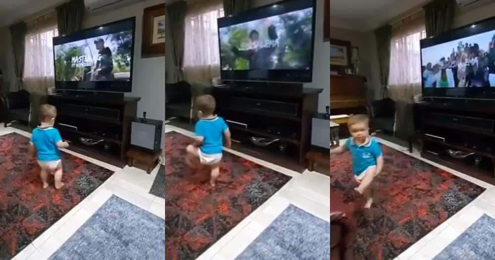 Mzansi reacts to adorable toddler giving #JerusalemaChallenge a go