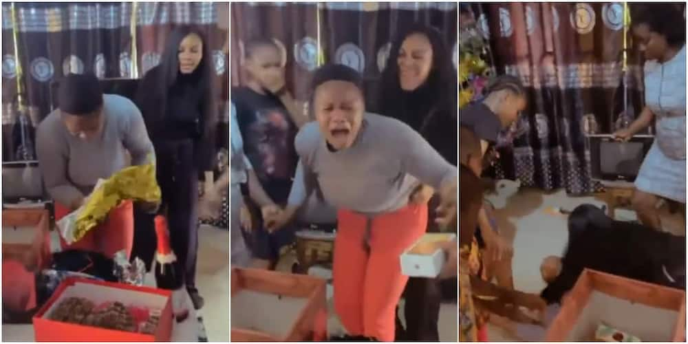 Reactions as Woman who Sacrificed a Lot for Siblings Faints after Being Gifted iPhone During Birthday Party