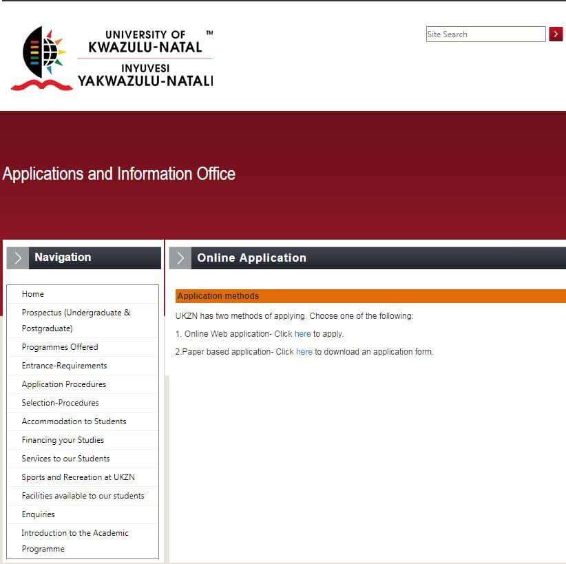 university of kwazulu natal courses offered