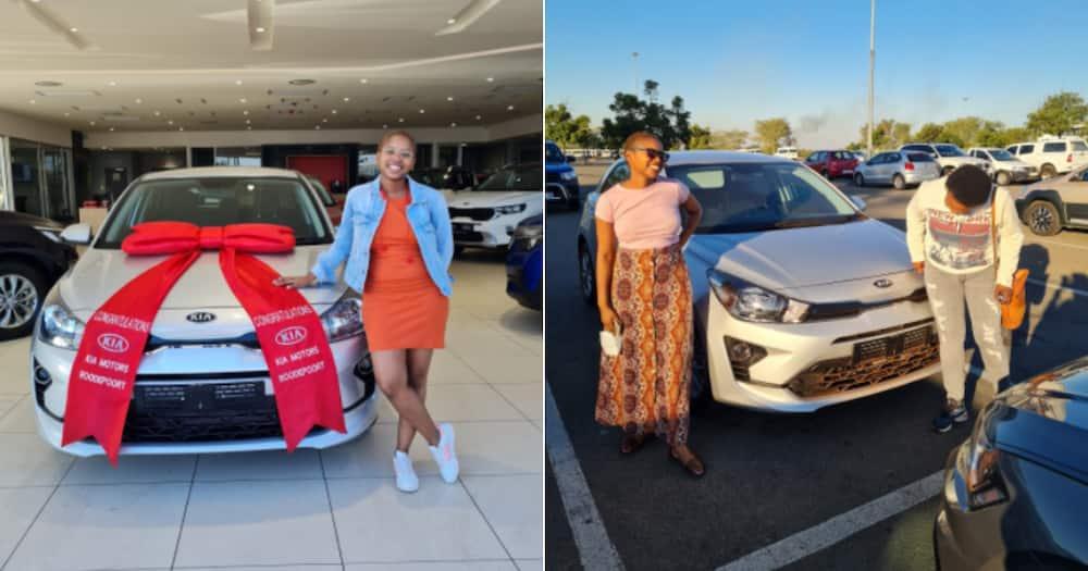 Lady Celebrates Buying Her First Car, Mzansi Has Heartfelt Congratulations