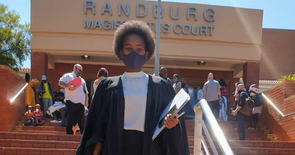 Lovely lawyer celebrates her first win in court, Mzansi stans