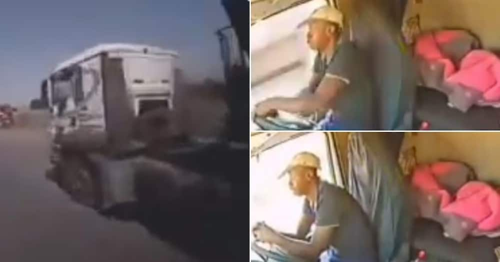 Don't text and drive: Video shows truck driver causing an accident