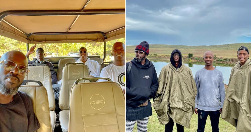DJ Black Coffee spends some quality time with his family in SA
