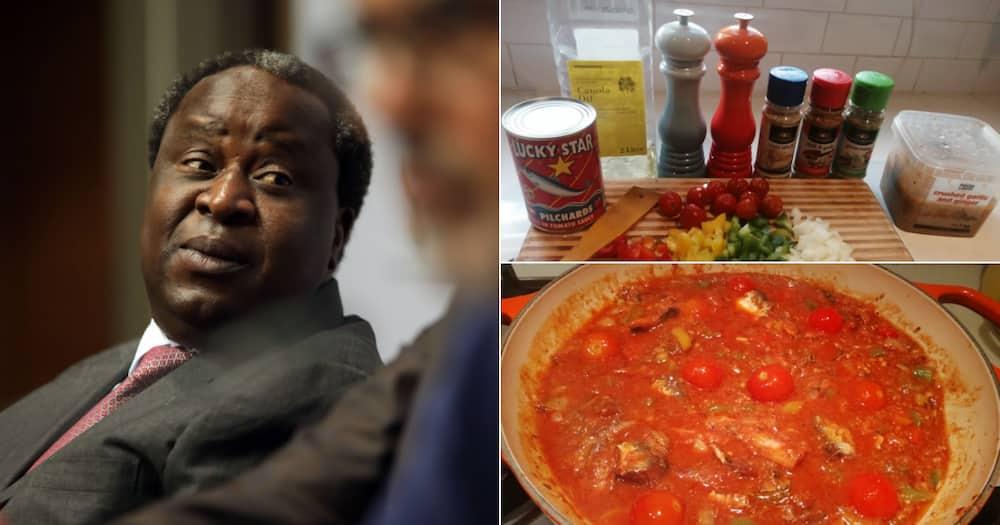 'Bathong Papa': Tito Mboweni Tries to Up His Pilchards Game