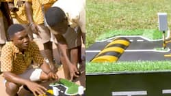 Innovative students generate power for traffic lights and streetlights using speed ramps