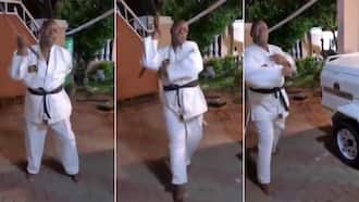 """""""Ubab Lee"""": Man shares his hilarious karate moves, leaves Mzansi in stitches"""