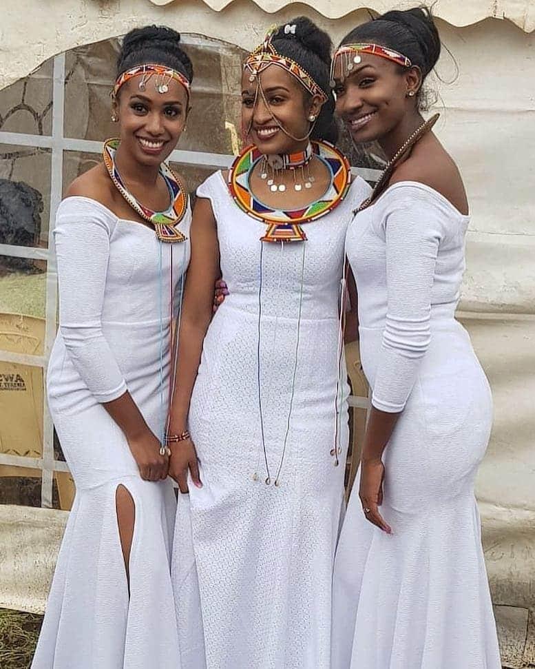 Kenyan traditional bridesmaids dresses